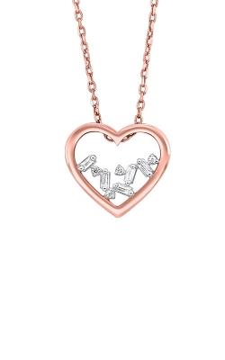 Albert's 14k Rose Gold 1/20ctw Baguette Heart Necklace PD10363-4PCSC product image