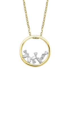 Albert's 14k Yellow Gold 1/20ctw Baguette Circle Necklace PD10364-4YCSC product image