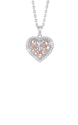 Albert's Sterling Silver And Rose Plated Heart Necklace PD10372-SSWP product image