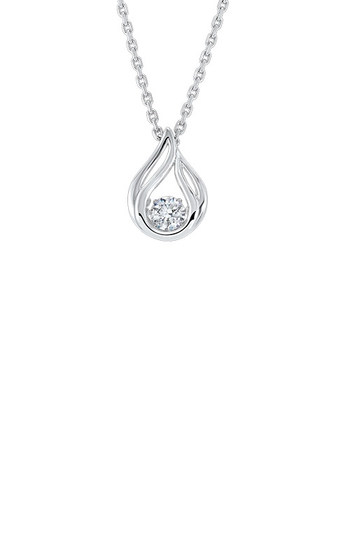 Albert's Sterling Silver Teardrop Necklace PD10376-SSW product image