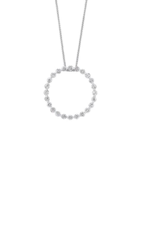 Albert's 14k White Gold 1/4ctw Diamond Circle Necklace PD10415-4WF product image