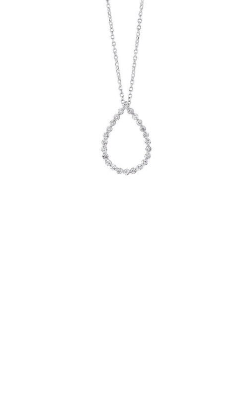 Albert's 14k White Gold 1/4ctw Diamond Pear Necklace PD10416-4WF product image
