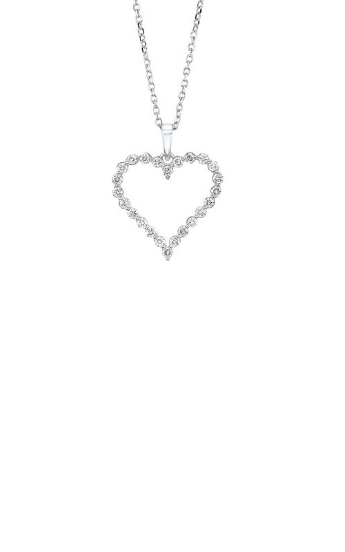 Albert's 14k White Gold 1/4ctw Diamond Heart Necklace PD10417-4WF product image