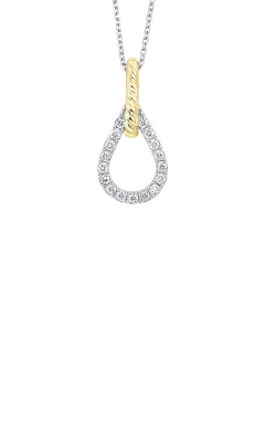 Albert's 14k White And Gold 1/7ctw Diamond Necklace PD10482-4YC product image
