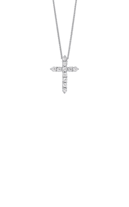 Albert's Sterling Silver 1/10ctw Diamond Cross Necklace PD10535-1WD product image