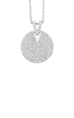 Albert's Sterling Silver Disc Necklace PD10536-SS product image