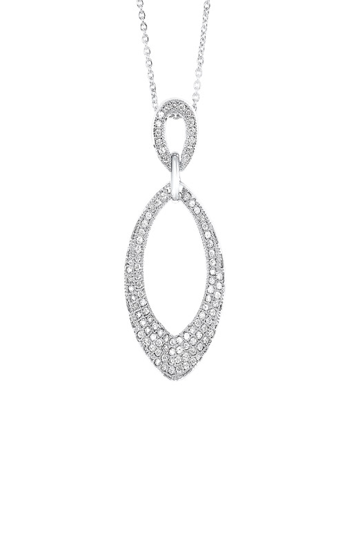 Albert's Sterling Silver CZ Necklace PD10538-SS product image