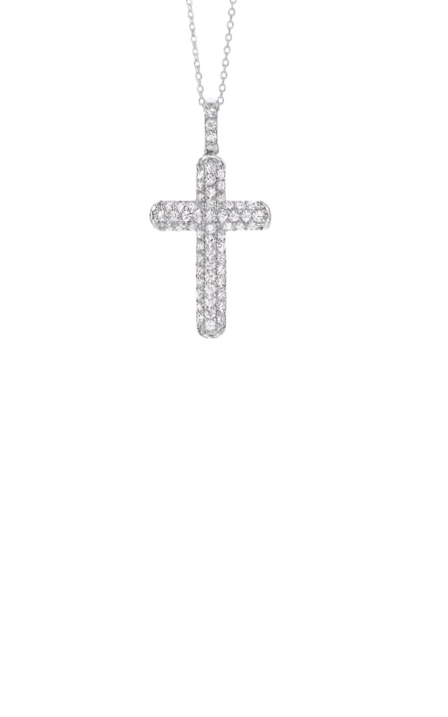 Albert's Sterling Silver CZ Cross Necklace PD10540-SS product image