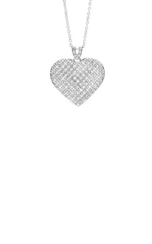 Albert's Sterling Silver CZ Heart Necklace PD10542-SS product image