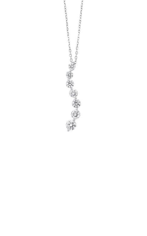 Albert's 14k White Gold 1/4ctw Diamond Journey Necklace PD10562-25-4WF product image