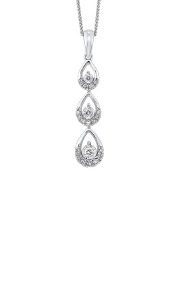Albert's 14k White Gold 1/3ctw 3 Stone Necklace PD30095-4WD product image