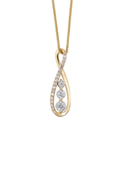 14k Yellow Gold 1/4ctw 3 Stone Infinity Necklace PD30097-4YD product image