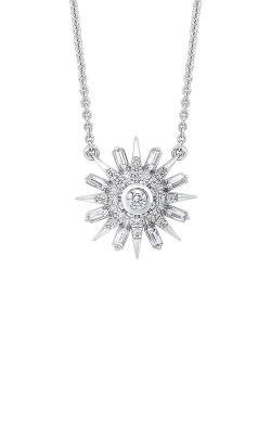 Albert's 14k White Gold 1/3 Starburst Necklace PD30960-4WC product image