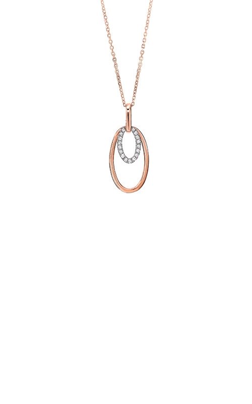 Albert's 14k Rose Gold 1/10ctw Diamond Oval Necklace PD32534-1WPD product image