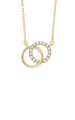 Albert's 14k Yellow Gold Circle Necklace PD32544-4YD product image