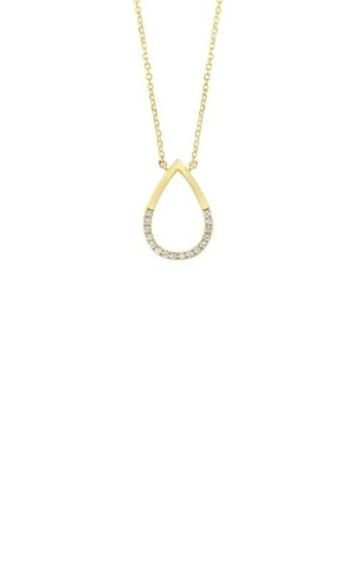 Albert's 14k Yellow Gold Diamond Teardrop Necklace PD32554-4YD product image