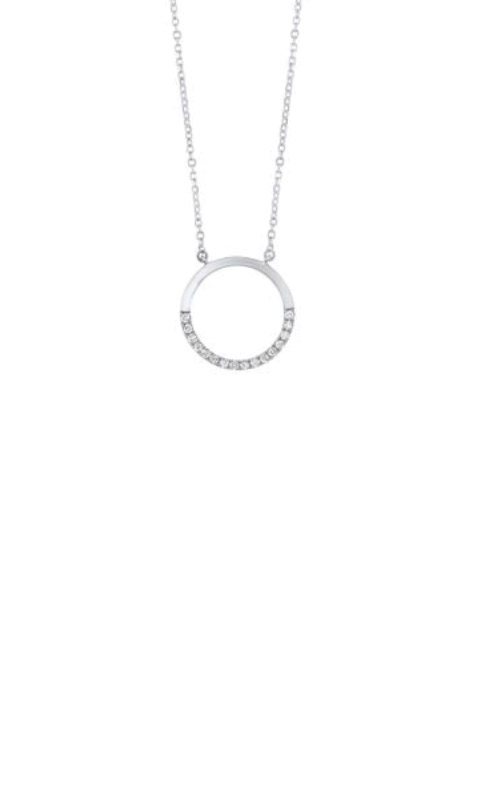 Albert's 14k White Gold Diamond Circle Necklace PD32555-4WD product image