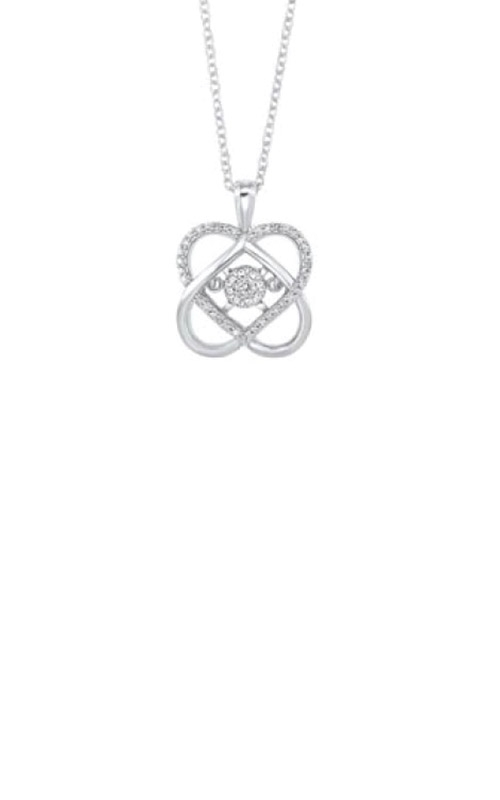 Albert's Silver 1/10ctw Diamond Necklace PD32931-SSSC product image
