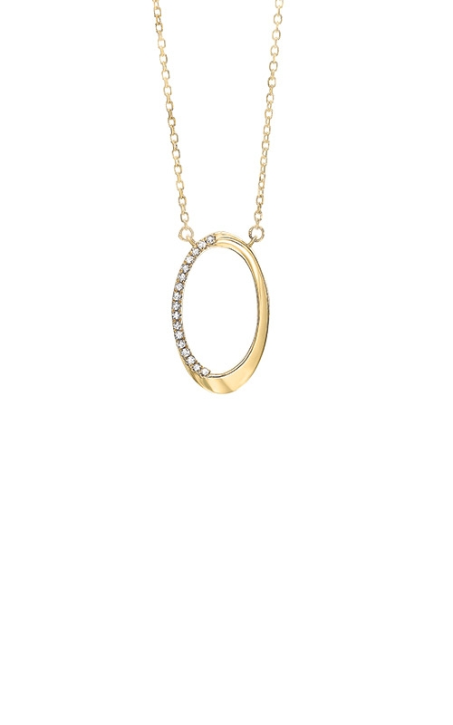 Albert's 10k Yellow Gold Diamond Oval Necklace PD32997-1YSC product image
