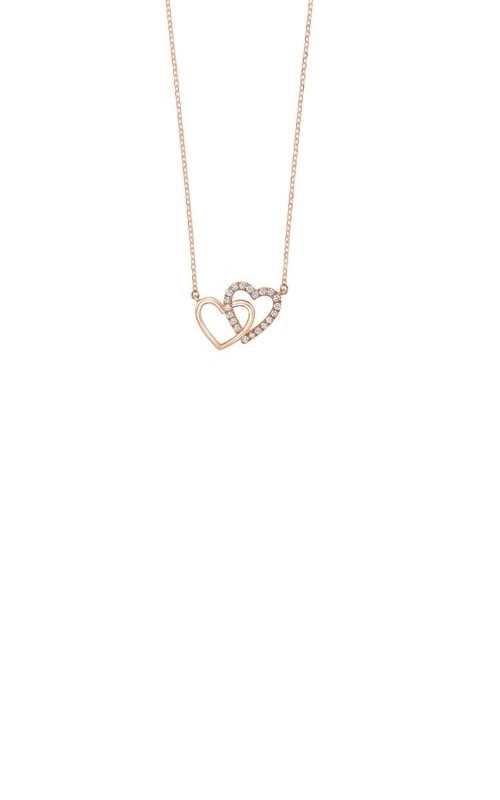Albert's 14k Rose Gold Diamond Heart Necklace PD33091-4PD product image