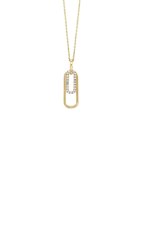 Albert's 14k Yellow Gold 1/10ct Diamond Necklace PD33092-1YD  product image