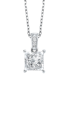 Albert's 14k White Gold 1/6ctw Princess Cut Diamond Necklace PD-10342-4WC product image