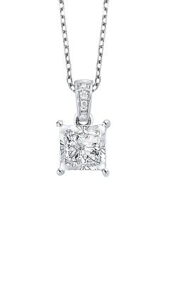 Albert's 14k White Gold 1/6ctw Princess Cut Diamond Necklace PD-10342-4WC product image