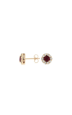 Albert's 14k Rose Gold 1.30ctw Ruby And Diamond Earrings PE3762R product image
