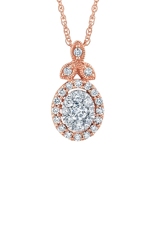 Albert's 14k Rose Gold .30ctw Diamond Necklace PF-5447A78T4S product image
