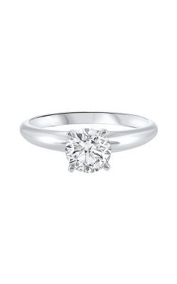 Albert's 14k White Gold 1ctw Lab Grown Solitaire Engagement Ring PLGAR1005-100 product image