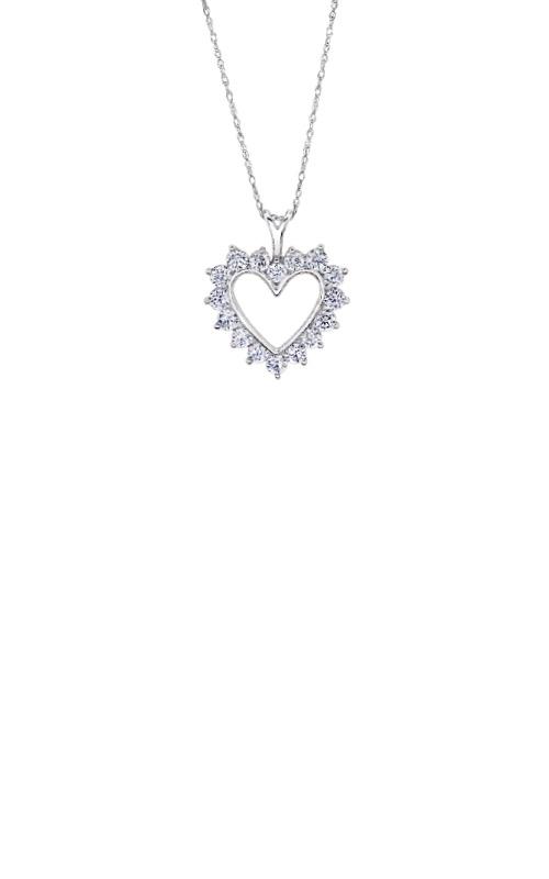 Albert's 10k White Gold 1ctw Lab Grown Diamond Heart Necklace PM8124-10-OWLG-18 product image