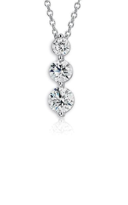 Albert's 14k .50ctw 3 Stone Diamond Necklace PN1061A product image