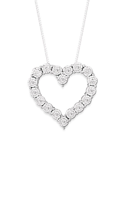 Albert's 14k White Gold .05ctw Heart Necklace PN865 product image