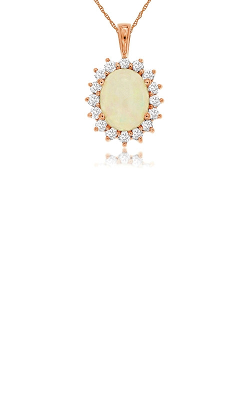 Albert's 14k Rose Gold 2.35ctw Opal and Diamond Necklace PP3845F product image