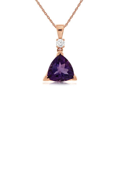Albert's 14k Rose Gold 2.10ctw Amethyst Diamond Necklace PP3896A product image