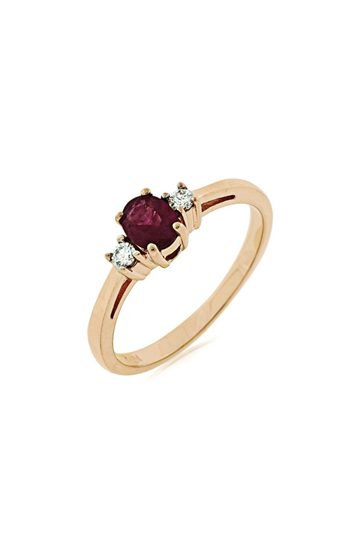 Albert's 14k Rose Gold .53ctw Ruby and Diamond Ring PR3106R product image