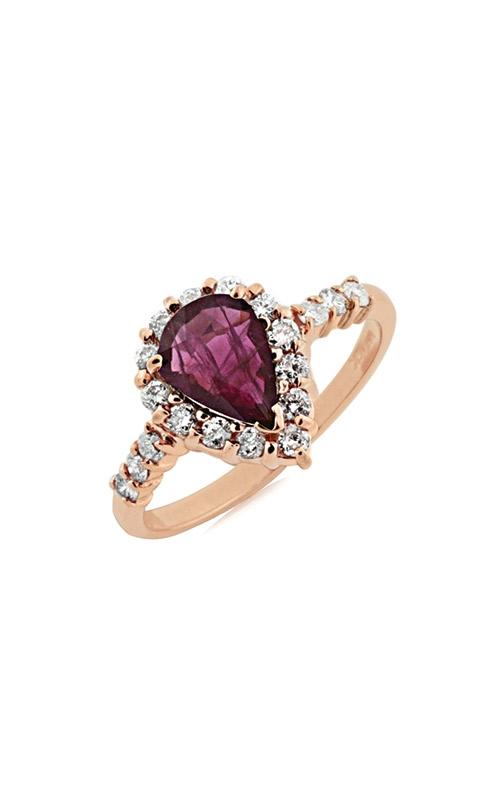 Albert's 14k Rose Gold 1.57ctw Pear Ruby and Diamond Ring PR3826R product image