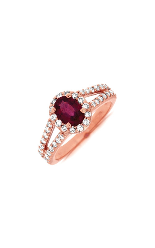 Albert's 14k Rose Gold 1.55ctw Ruby and Diamond Ring PR3880R product image