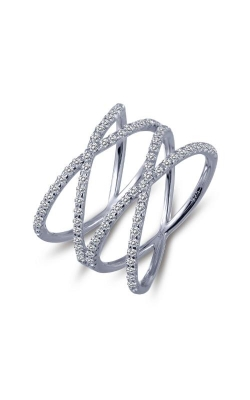 Albert's Sterling Silver CZ Double Crisscross Ring R0172CLP07 product image