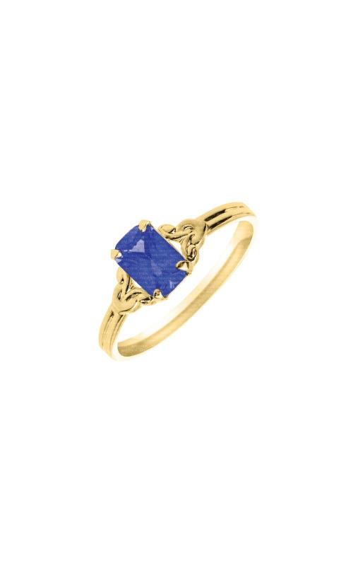Albert's 10k Yellow Gold Blue Sapphire Child Ring R572SAP product image