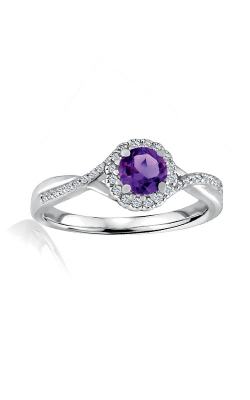 Albert's Sterling Silver Diamond Amethyst Fashion Ring R6417-AM-SS product image