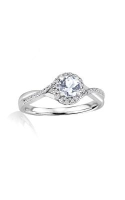 Albert's Sterling Silver Diamond Aquamarine Fashion Ring R6417-AQ-SS product image