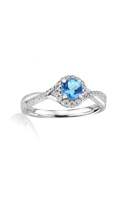Albert's Sterling Silver Diamond Blue Topaz Fashion Ring R6417-BLTPZ-SS product image