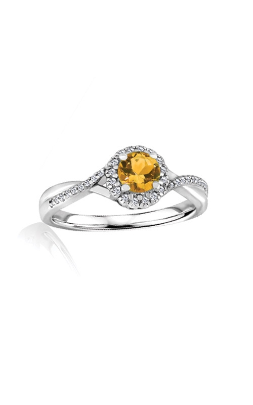 Albert's Sterling Silver Diamond Citrine Fashion Ring R6417-CIT-SS product image