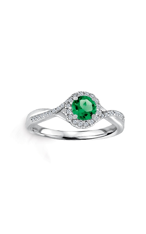 Albert's Sterling Silver Diamond Emerald Fashion Ring R6417-EM-SS product image