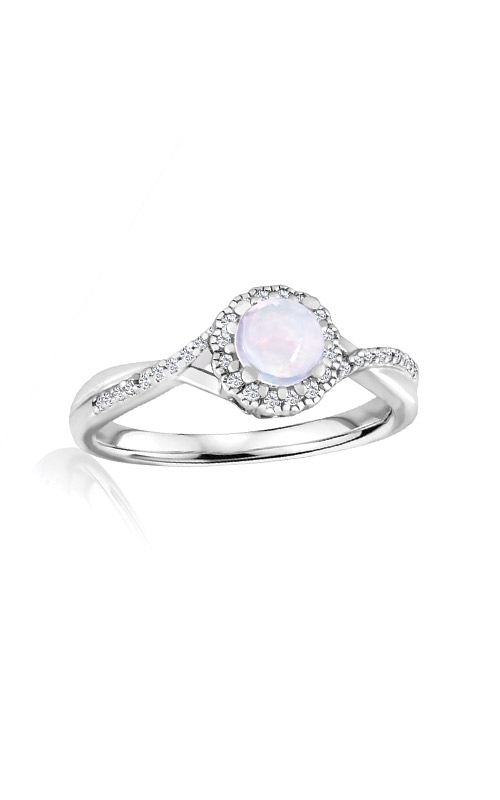 Albert's Sterling Silver Diamond Opal Fashion Ring R6417-OPAL-SS product image