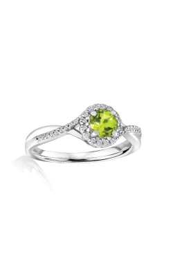 Albert's Sterling Silver Diamond Peridot Fashion Ring R6417-PER-SS product image