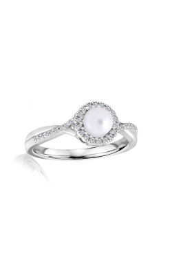 Albert's Sterling Silver Diamond Pearl Fashion Ring R6417-PRL-SS product image