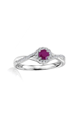Albert's Sterling Silver Diamond Ruby Fashion Ring R6417-RUBY-SS product image
