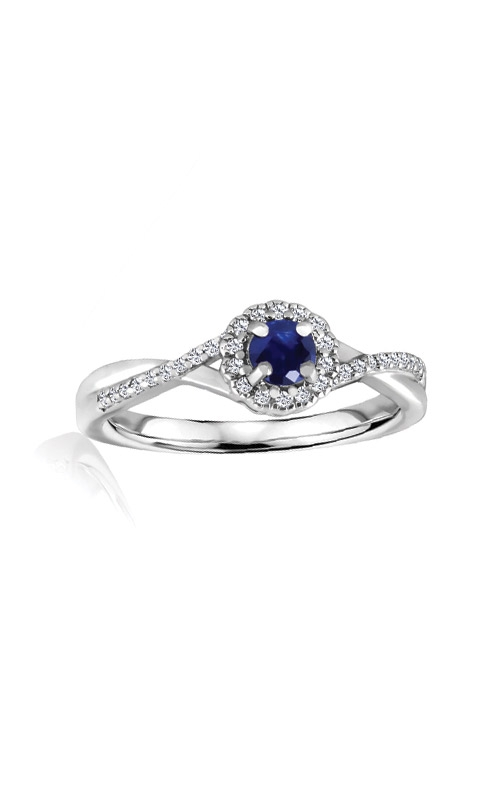 Albert's Sterling Silver Diamond Blue Sapphire Fashion Ring R6417-SAPH-SS product image